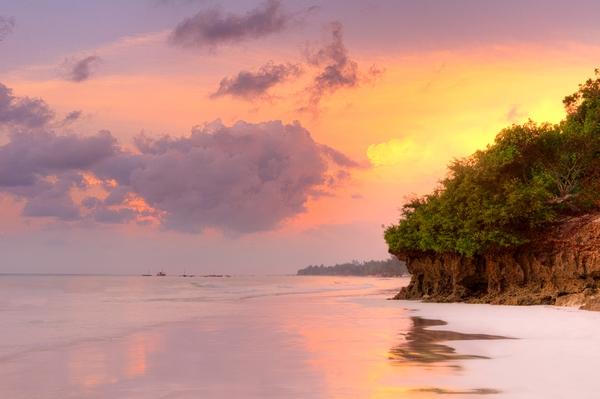 plaja in Kenya