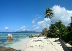 Plaja romantica, la Digue, Seychelles