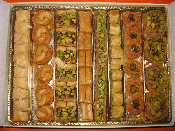 baklava - desert turcesc cu miere, nuci si fistic