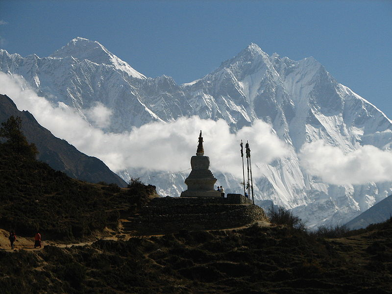 Vedere asupra Varfului Everest din Nepal