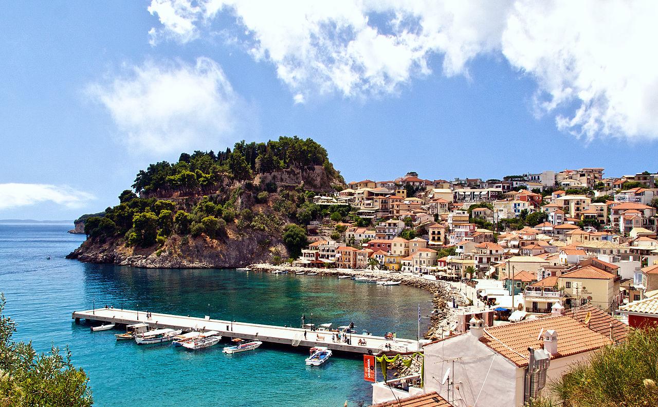 Vedere panoramica in Parga, Grecia