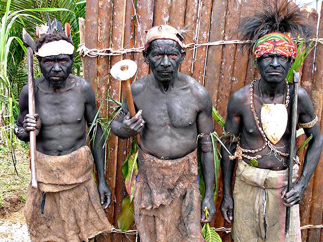 Cunoscut ca si ultimul trib canibal confirmat din lume, Korowai locuieste in vestul insulei Noua Guinee.