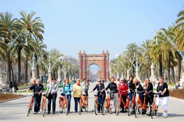Tur pe bicicleta in Barcelona