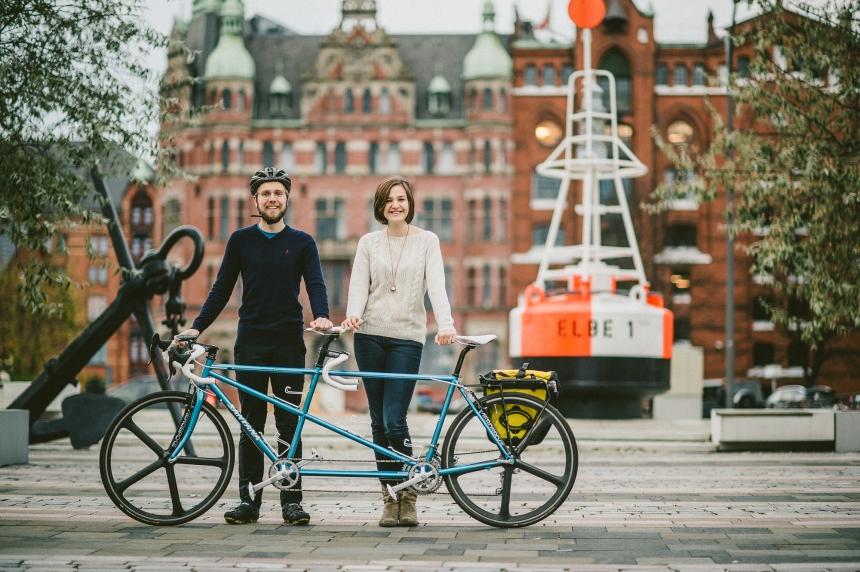 Bicicleta in Hamburg, Germania