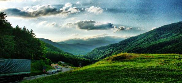Cheia road to Sacele