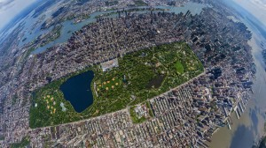 Central Park New York vazut din satelit