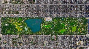 Central Park New York vazut din satelit1