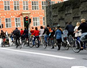 Biciclisti in Copenhaga, Danemarca