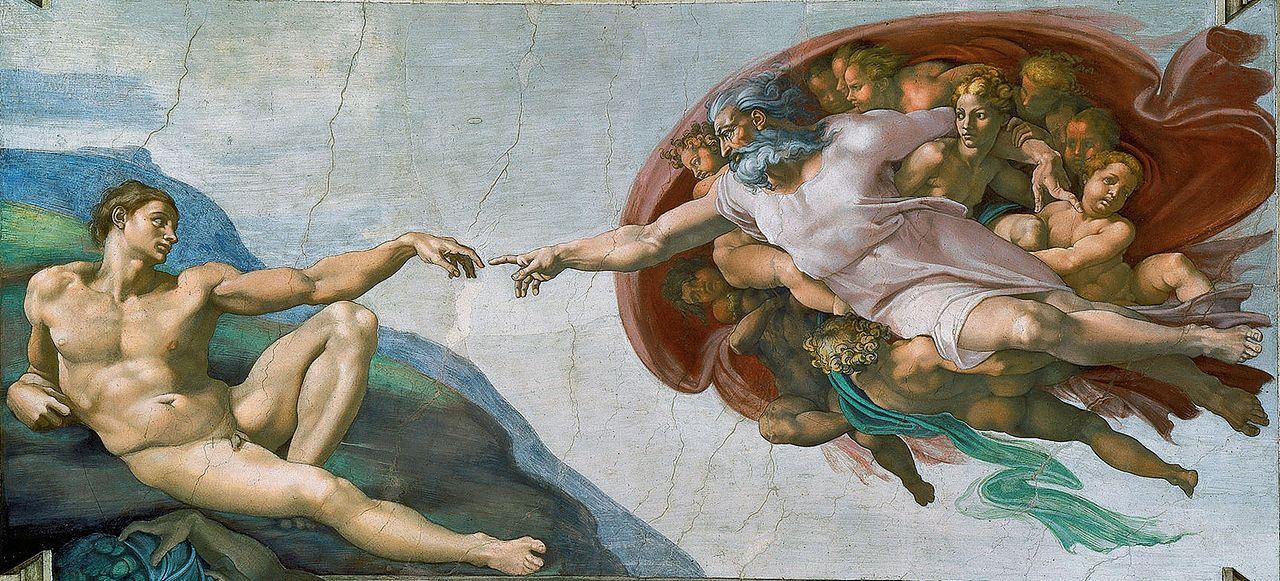 Crerea lui Adam, Capela Sixtina, Muzeele Vaticanului