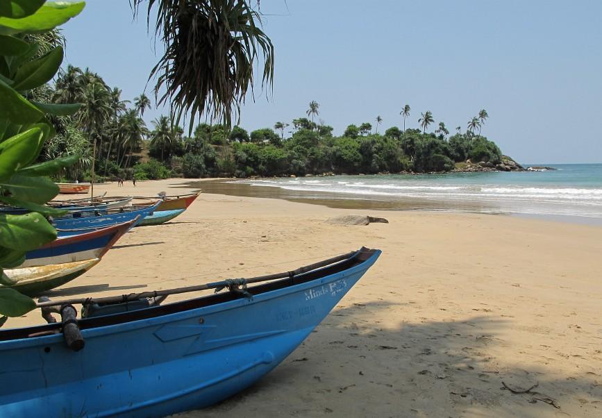 Dickwella Beach in sudul Sri Lankai