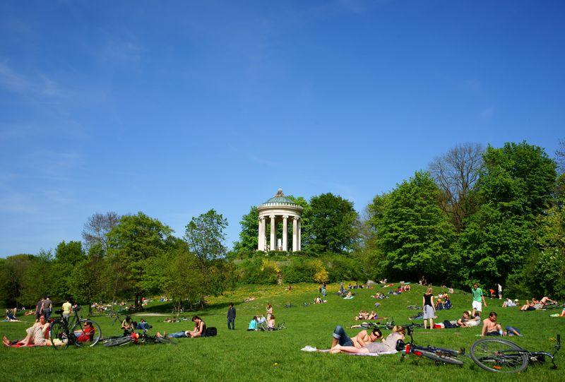 Englischer Garten Munchen, Germania