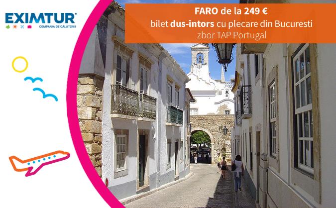 Bilete de avion Faro, Portugalia