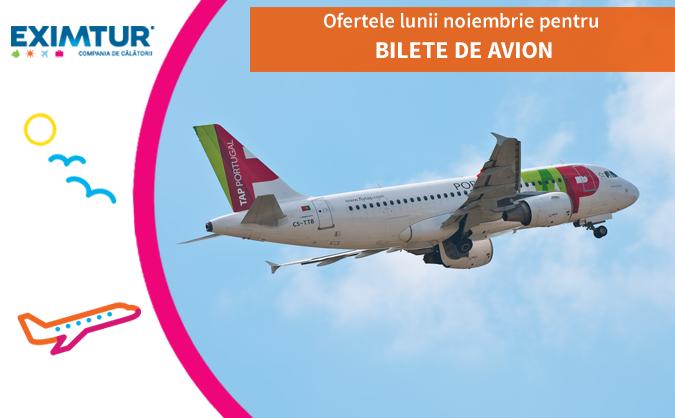 Ofertele lunii noiembrie pentru bilete de avion in Portugalia