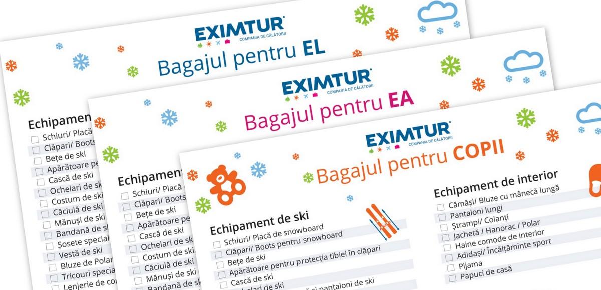 Lista de bagaje la ski