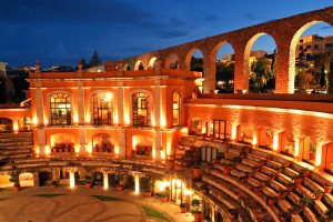 Recunoscut pentru frumusetea acestui loc, hotelul Quinta Real, din Zacatecas, Mexic, este de fapt, un ring pentru luptele cu tauri din secolul 17.