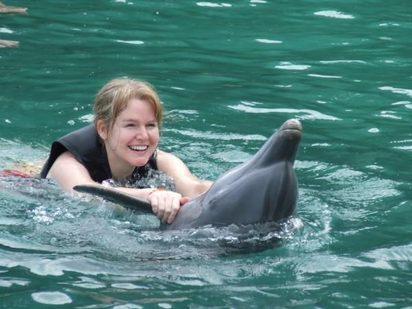 Inot cu delfinii la Dolphin Cove, Ocho Rios, Jamaica