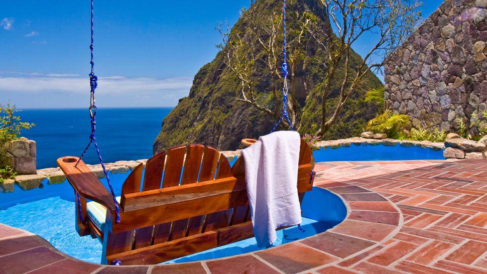 Vedere din Ladera Resort, Insula St. Lucia, Caraibe