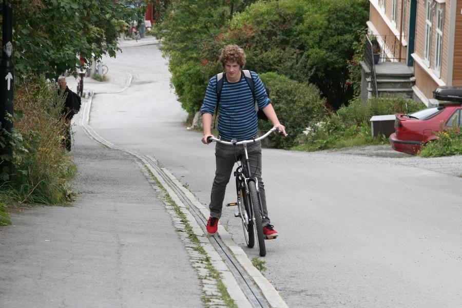 Liftul de biciclete din Trondheim, Norvegia