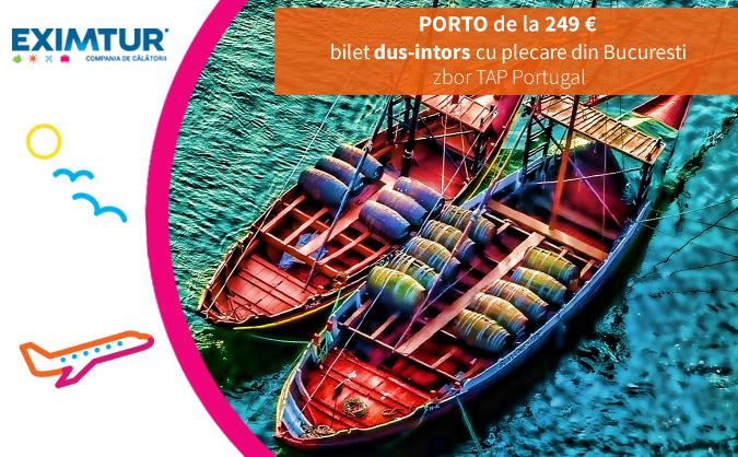 Oferta bilete de avion in Porto, Portugalia