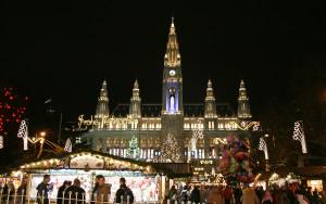 Rathaus si Targul de Craciun din Viena