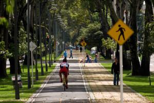 Pista de biciclete in Bogota, Columbia