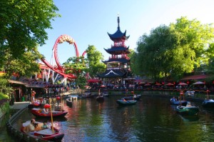 Tivoli Gardens din Copenhaga, Danemarca