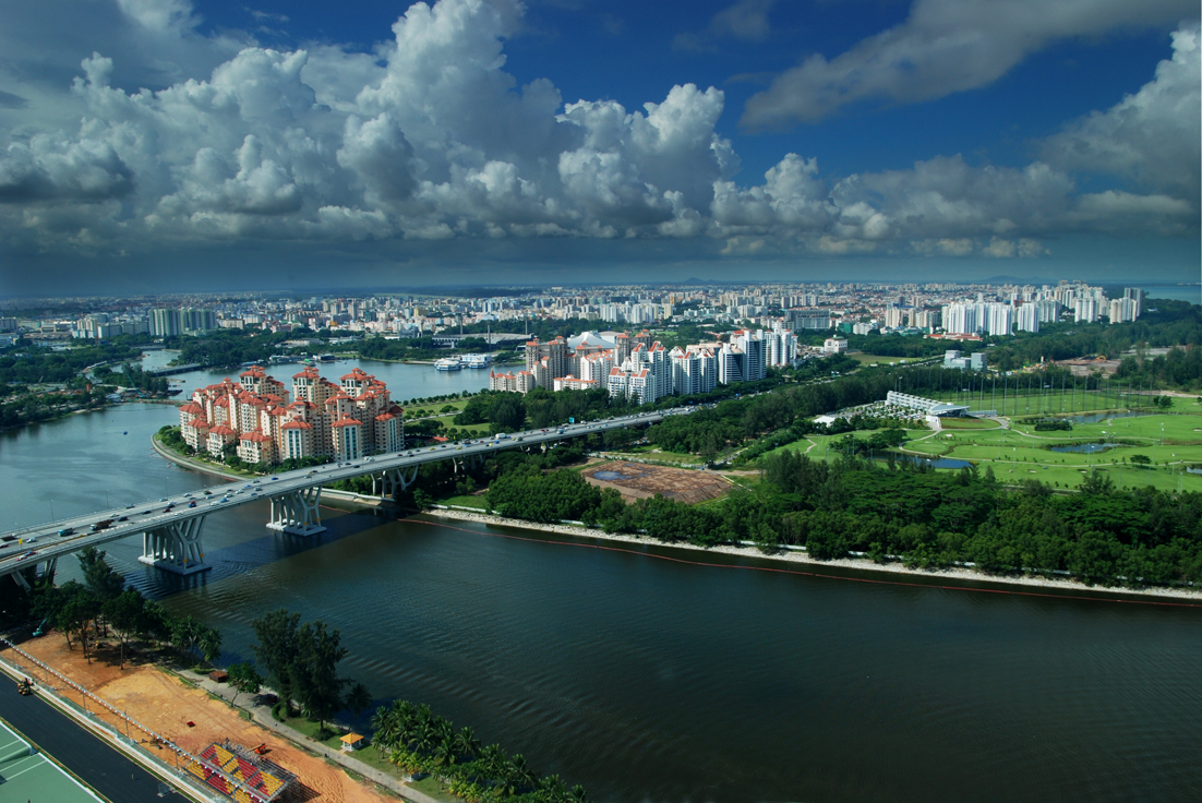 Vedere asupra raului Kalang din Singapore Flyer