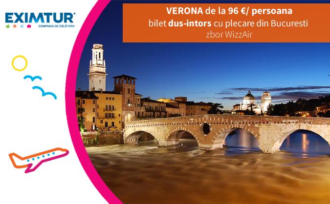 Oferte bilete de avion la Verona de Valetine's Day