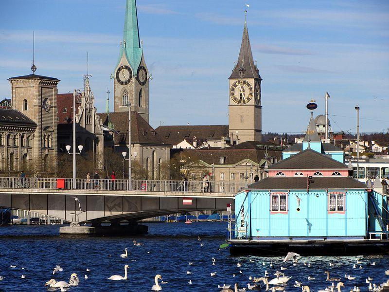 Lacul Zurich cu vedere catre Fraumunster