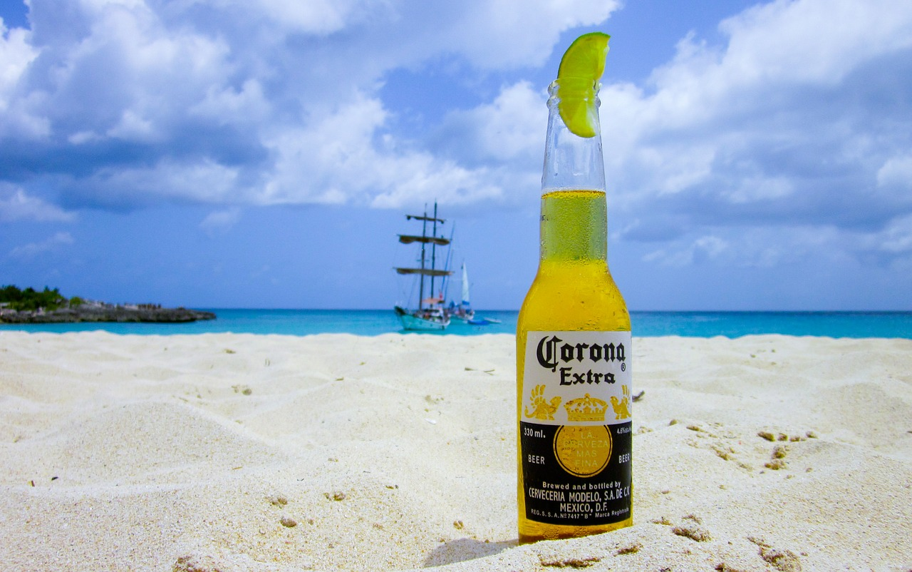 bere pe plaja
