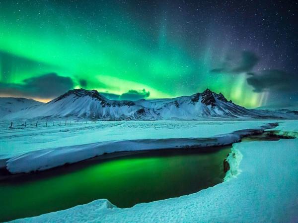 Aurora boreala in Islanda