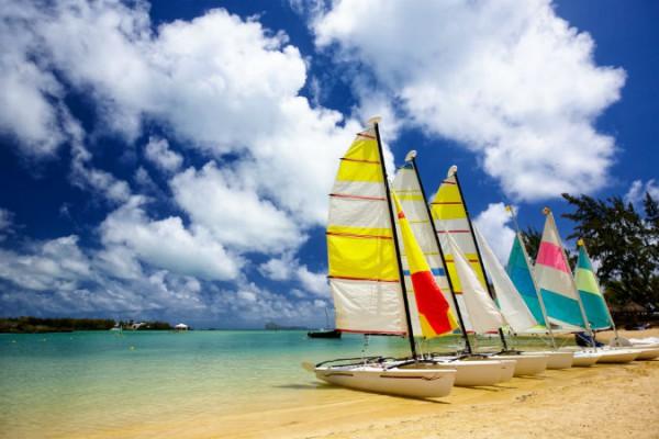 Plaja insorita in Mauritius